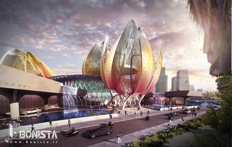 طراحی مرکز فرهنگی لوتوس در هانوی ویتنام توسط شرکت معماری دسیبل