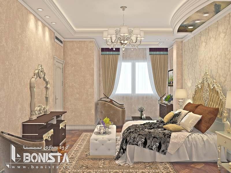 طراحی داخلی کلاسیک مسکونی